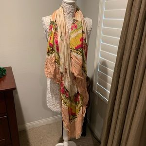 Colorful long lightweight scarf